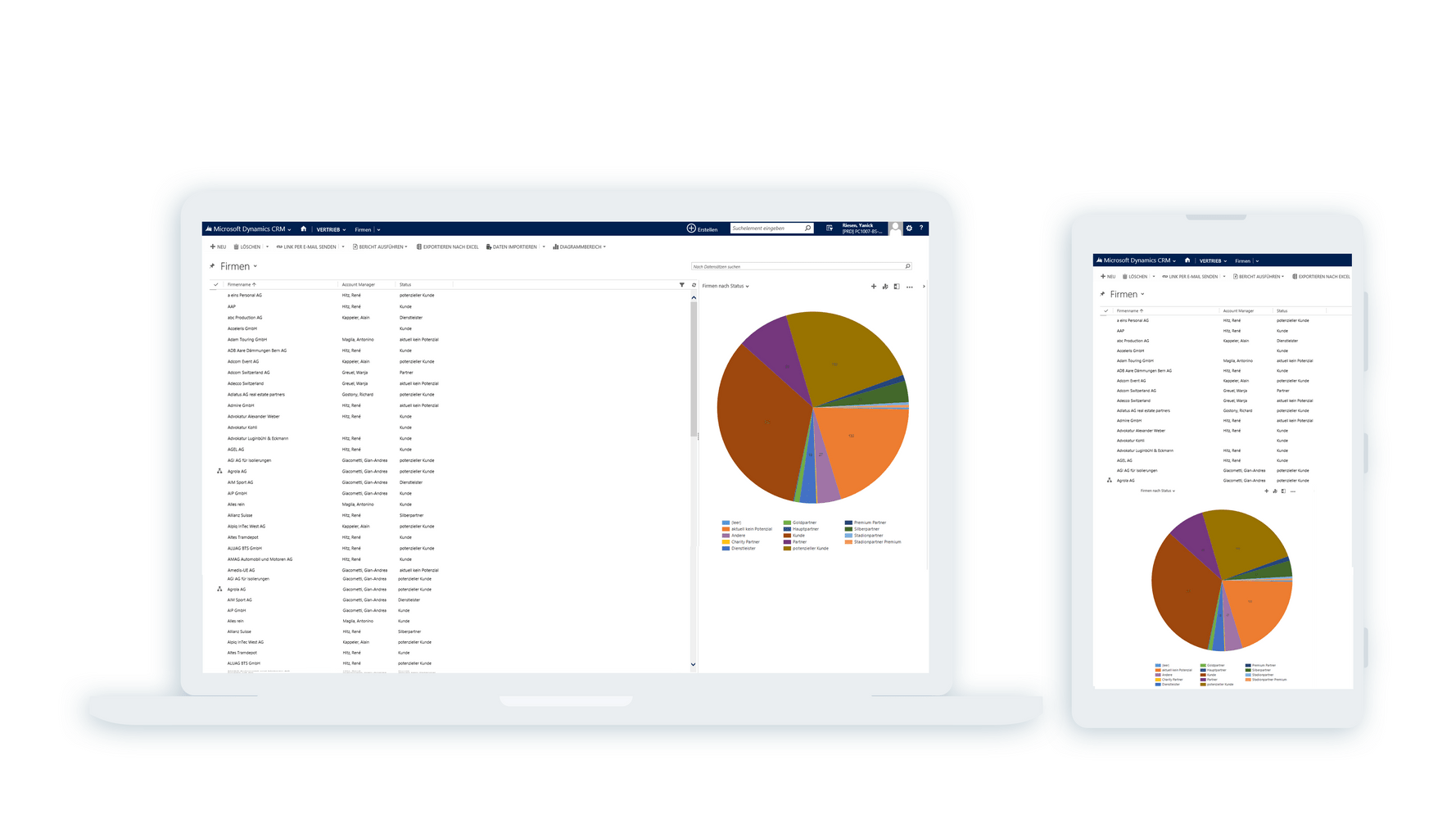 Screenshot Lösung YB
