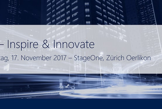 Eckdaten zum Inspire and Innovate Anlass